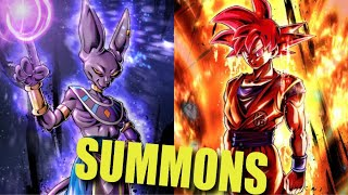 NEW SSG GOKU & BEERUS! New Years Step-Up Summons! Dragon Ball Legends