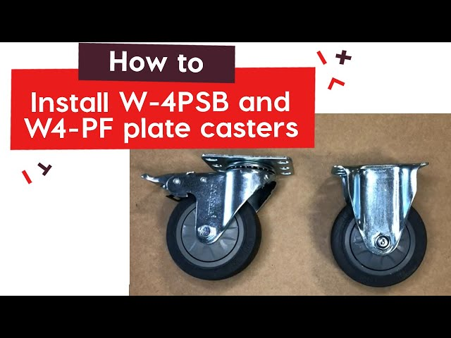 How To Install W-4PSB and W 4-PF plate casters | tinktube