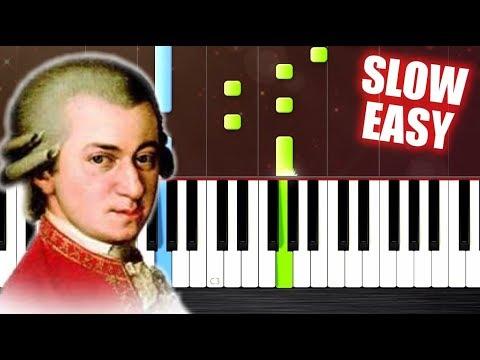 Mozart - Eine kleine Nachtmusik - SLOW EASY Piano Tutorial by PlutaX