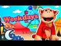 Dias de la Semana en Inglés con El Mono Sílabo - Videos Educativos para Niños - Lunacreciente