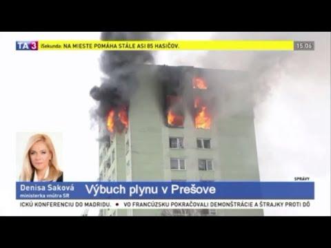斯洛伐克12層大樓氣爆 大火延燒至少5死數十傷