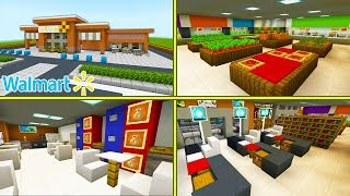 "Minecraft Tutorial: How To Make A Walmart ""2020 City Tutorial"" PART 2"
