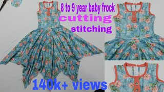 Rumal cot frock hanky cut frock 8 to 9 year baby frock cutting stitching  / Saba Boutique