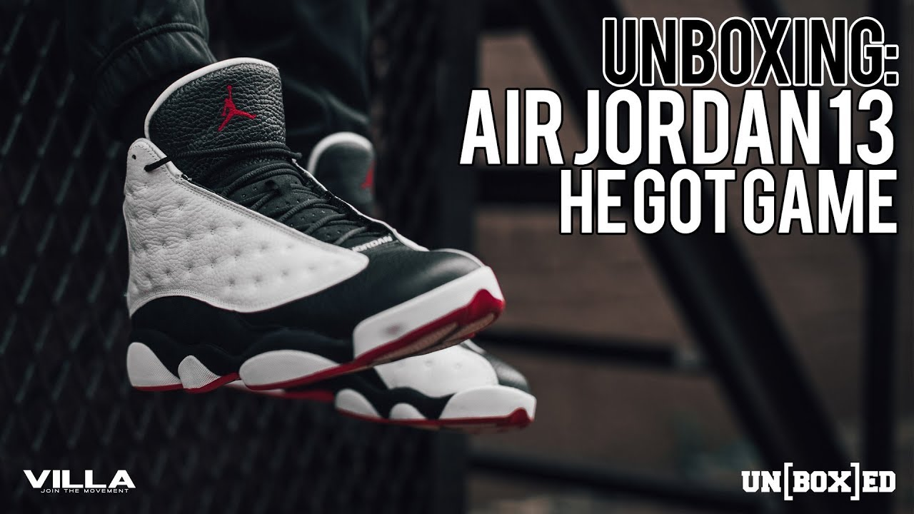 dc0588e7e55bed UNBOXED  HE GOT GAME AIR JORDAN 13 EP  29 - YouTube