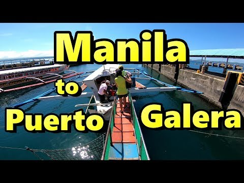 How to get from Manila to Puerto Galera Philippines