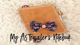 my a6 traveler s notebook set up