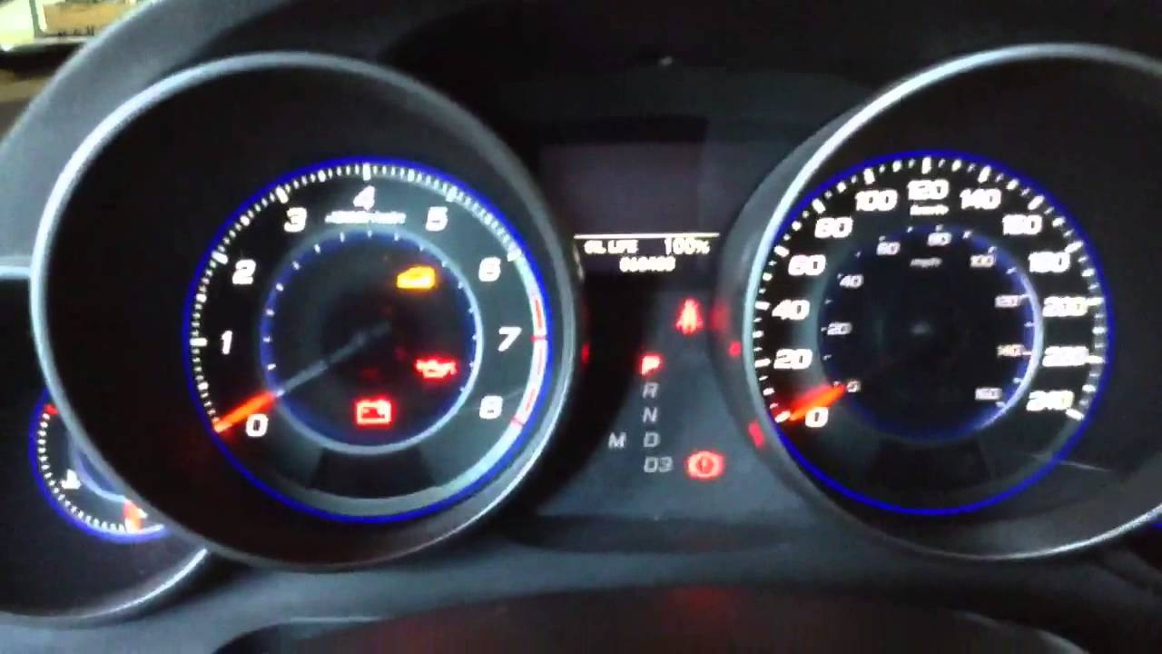 how to reset engine oil life display acura mdx youtube
