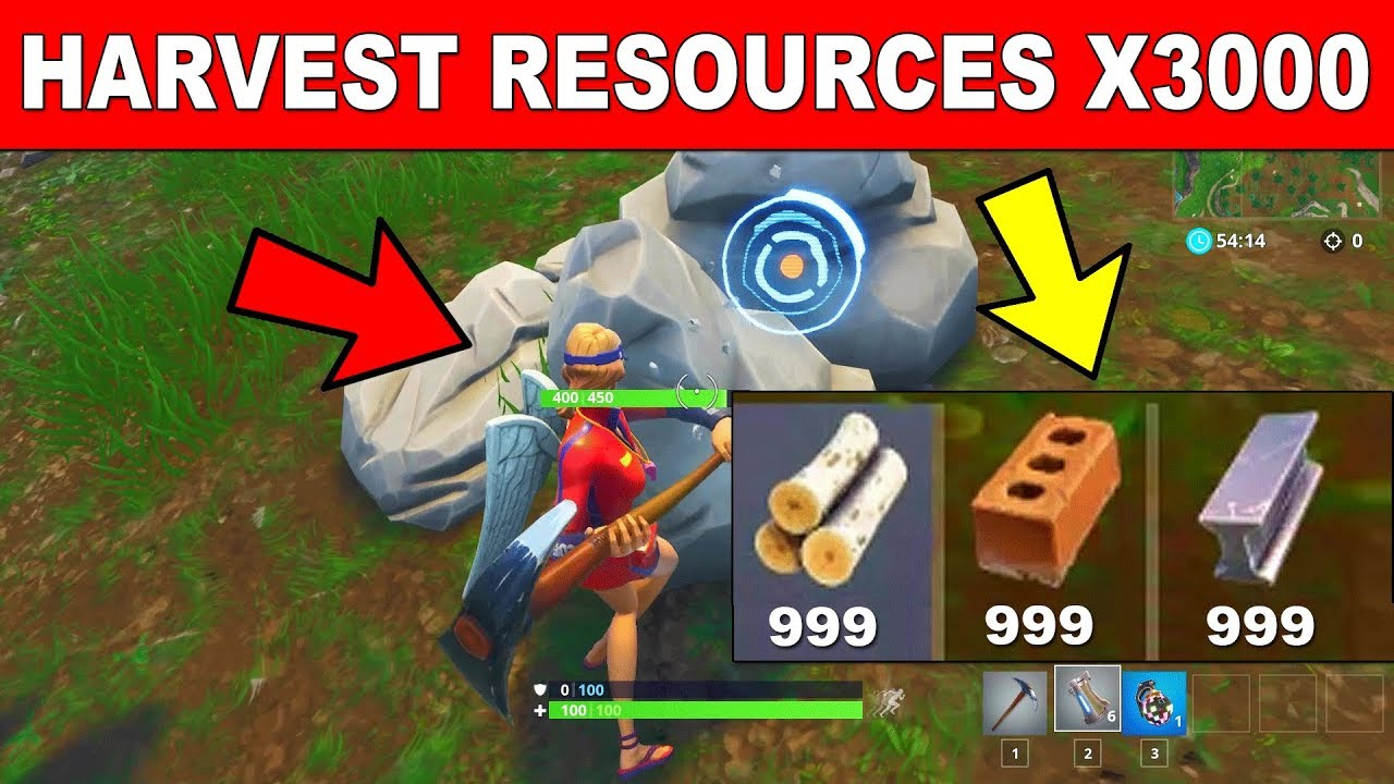 Harvest Building Resources With A Pickaxe Fortnite Week  Challenges Season