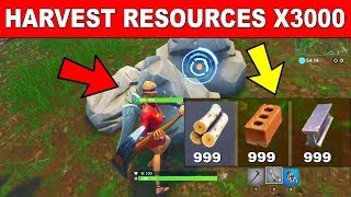 Harvest Building Resources with a Pickaxe - FORTNITE WEEK 6 CHALLENGES SEASON 5