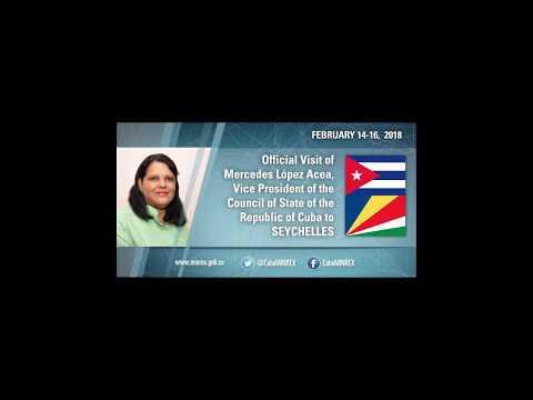 Official visit of Mercedes Lopez Acea to Seychelles