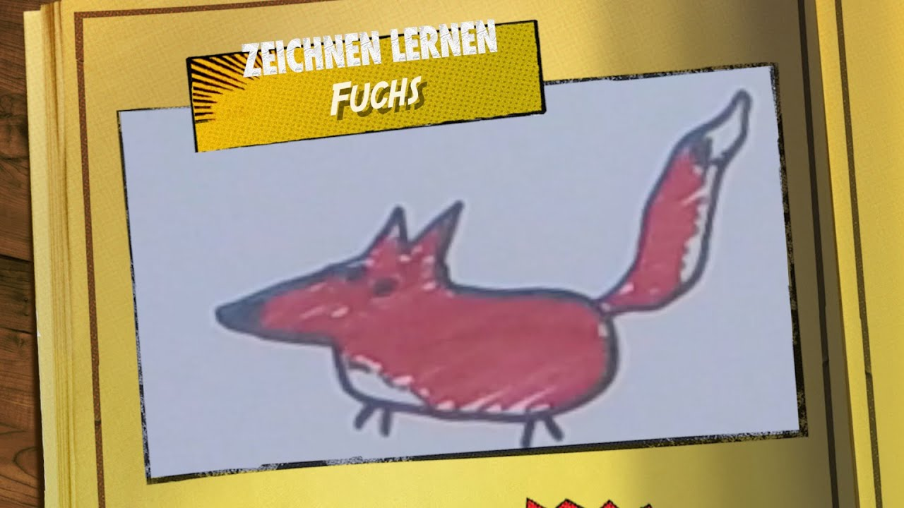 Einen Fuchs Zeichnen - Strich für Strich - Malen lernen ...
