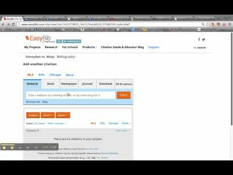 Copy & Paste Citation from a Database Article into EasyBib