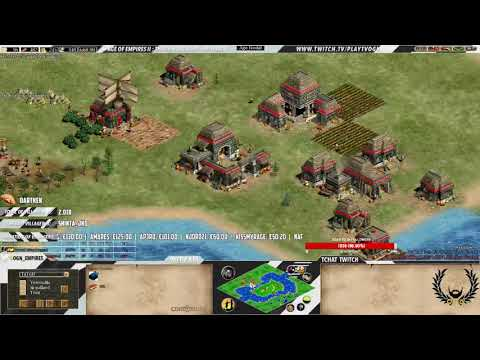 Age of empires II - Expert Players - TaToH vs BacT - MAP CUSTOM - MAYANS WAR