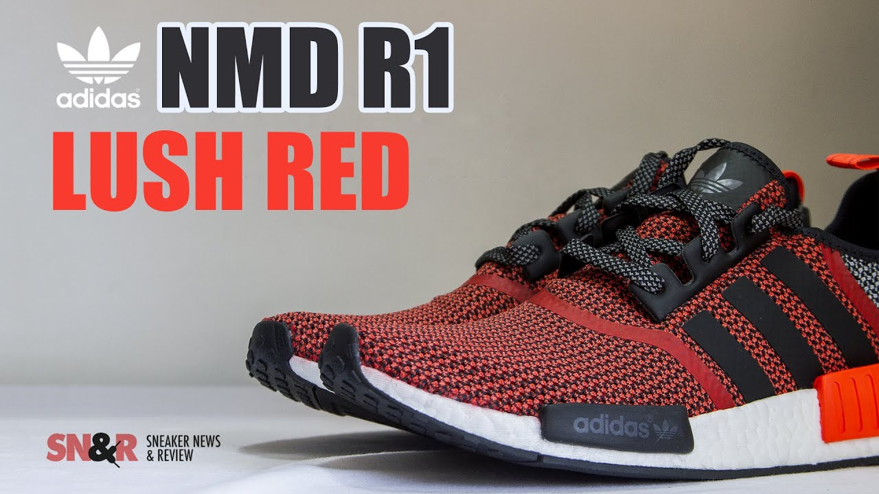 6634b4b09 adidas NMD R1  Lush Red  Sneaker Review - YouTube