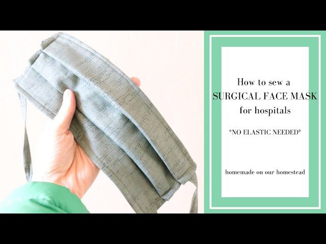 How to SEW a MEDICAL face MASK with ties // SURGICAL face mask // FACE MASK WITh TIES
