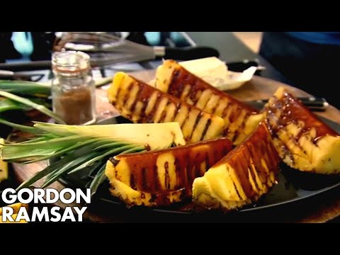 Griddled Pineapple with Spiced Caramel Gordon Ramsay