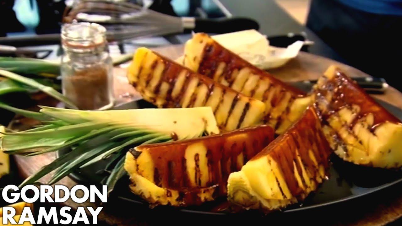 Griddled pineapple with spiced caramel gordon ramsay - Gordon ramsay cuisine cool ...