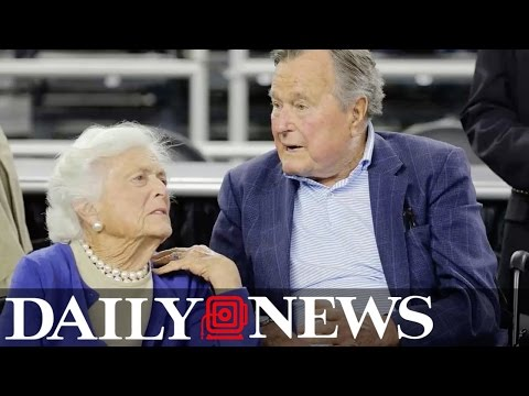Former President George H.W. Bush in intensive care, Barbara Bush hospitalized in Texas