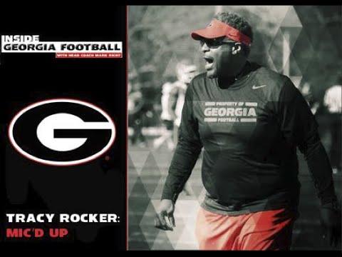 UGA Football: Coach Tracy Rocker Mic
