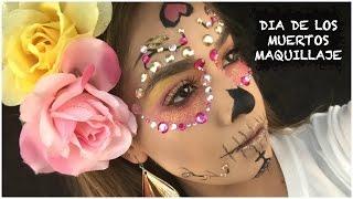 """Dia De Los Muertos Maquillaje """"La Catrina""""  Facil Para Halloween"""