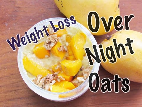Overnight Oats Lose 2 kgs In 1 Week Mango Lassi Overnight Oats Skinny Recipes For Weight Loss