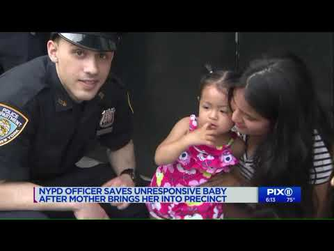 Rookie NYPD officer saves baby with CPR