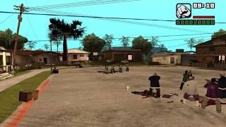GTA SAN ANDREAS Война Банд №1 Бойня За Грув