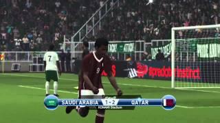 السعودية وقطر بيس 2015   ps4 saudi arabia vs qatar pes15 gameplay