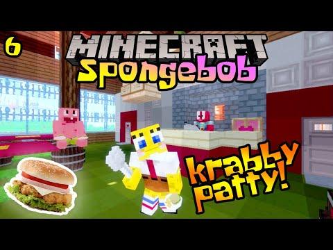 HARI PERTAMA SPONGEBOB BEKERJA DI KRUSTY KRAB! 🍔🤣 - Minecraft Spongebob : S1EP6