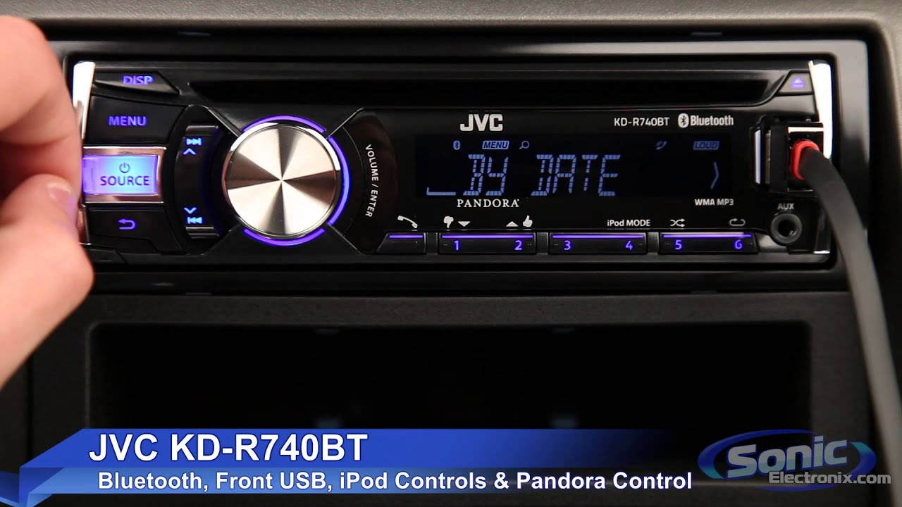 jvc kd r740bt car stereo ipod iphone android ready w. Black Bedroom Furniture Sets. Home Design Ideas