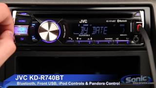 JVC KD-R740BT Car Stereo | iPod, iPhone & Android Ready w/ Bluetooth