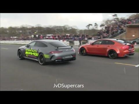 Mercedes-AMG GT63 S 4-Matic Vs Alpina B7 BiTurbo Vs Huracan Vs 750HP RS6+ ABT - Dragrace