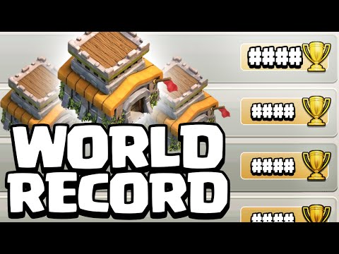 Clash of Clans ♦ WORLD RECORD ♦ Town Hall 8 TROPHY RECORD! ♦ CoC ♦