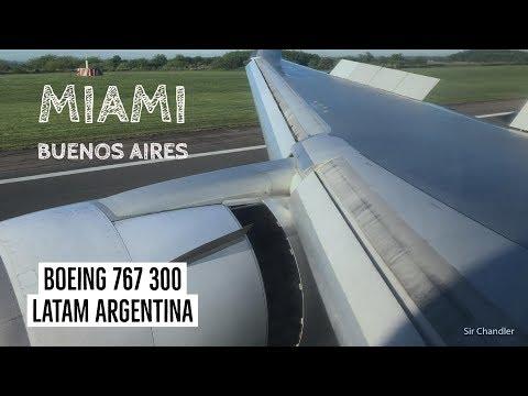 Miami Buenos Aires - LATAM Argentina Boeing 767