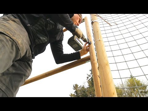 Building a CHEAP GATE! + Setting up DEER FENCING