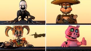 Every Other FNAF Character in a nutshell animated (Scrap Baby, Pig Patch, Balora & MORE)
