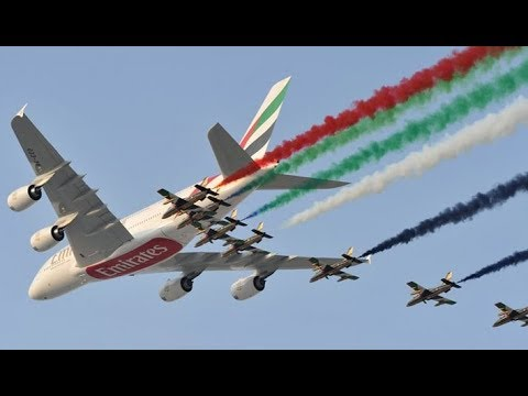 US Military Aircraft put a SHOW OF MILITARY POWER at Dubai Air Show