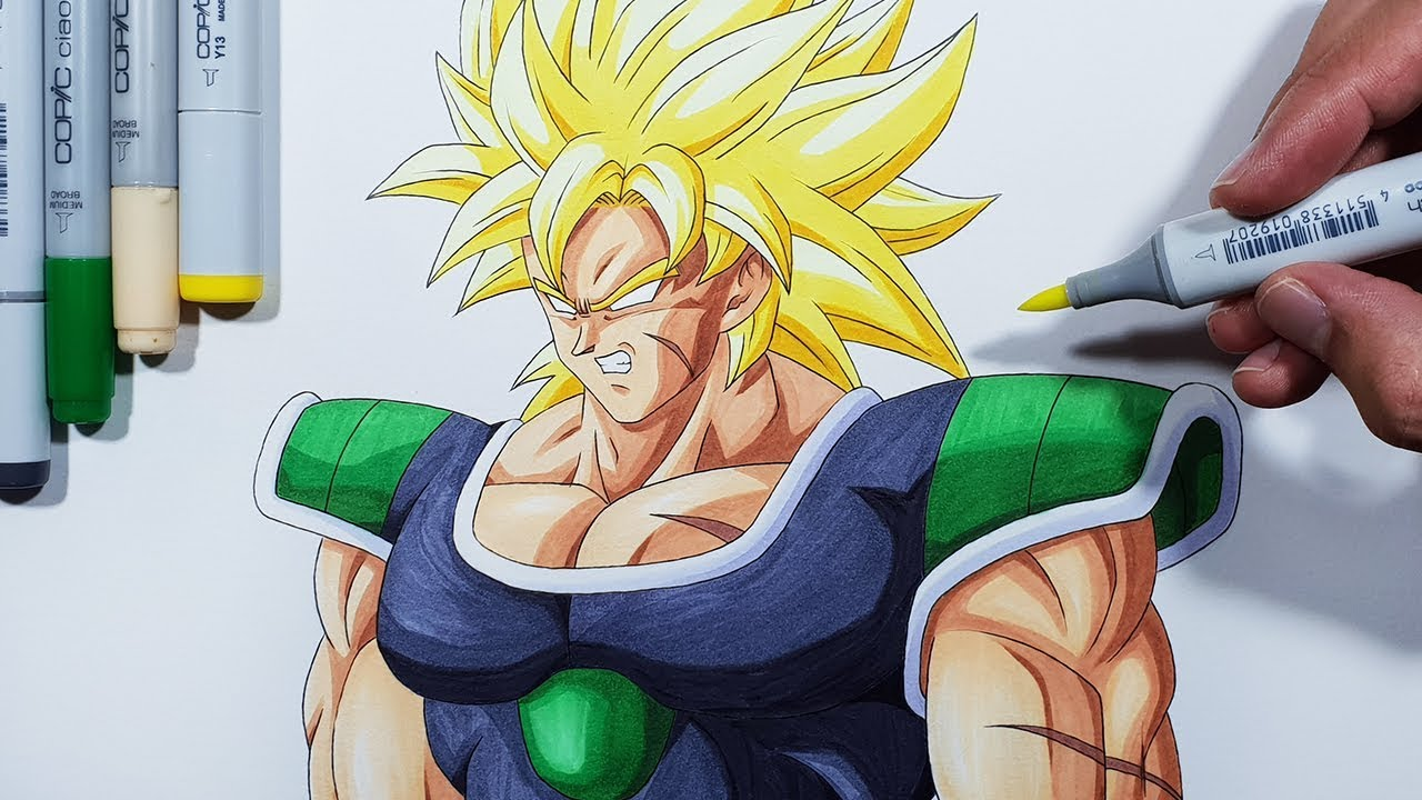 How To Draw Broly Super Saiyan Step By Step Tutorial Youtube