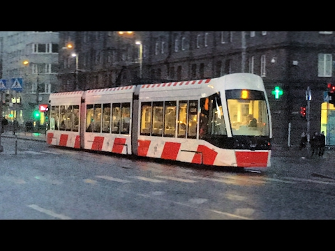 Buses and Trams in Tallinn 29.1.2017