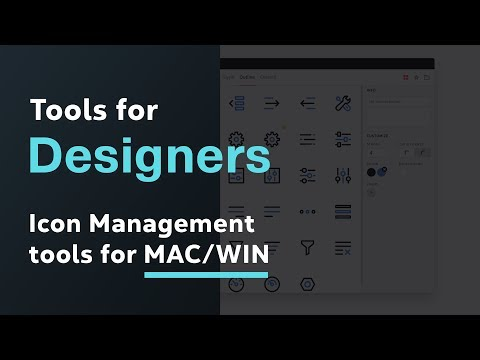 Icon Manager Tools for Designers MAC & Windows → Manage your icons better