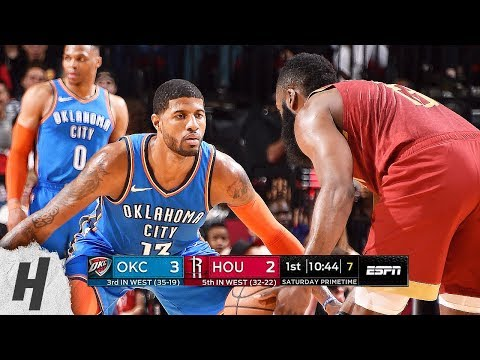 Oklahoma City Thunder vs Houston Rockets - Full Game Highlights | February 9, 2019 | 2018-19 Season