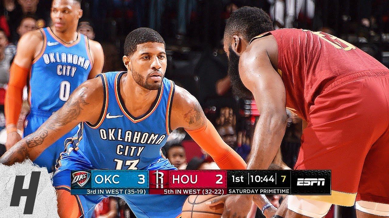 c4515fc321e Oklahoma City Thunder vs Houston Rockets - Full Game Highlights ...
