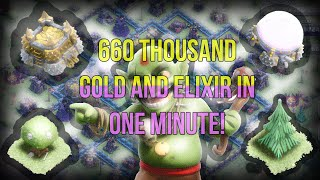 Clash of Clans w/Aaron - 660 000 Gold and Elixir in 1 minute!