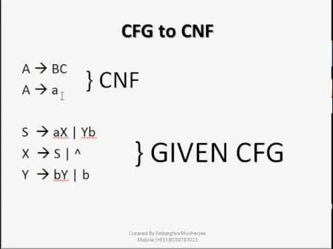 Automata Theory : Context Free Grammar (CFG) to Chomsky Normal ...