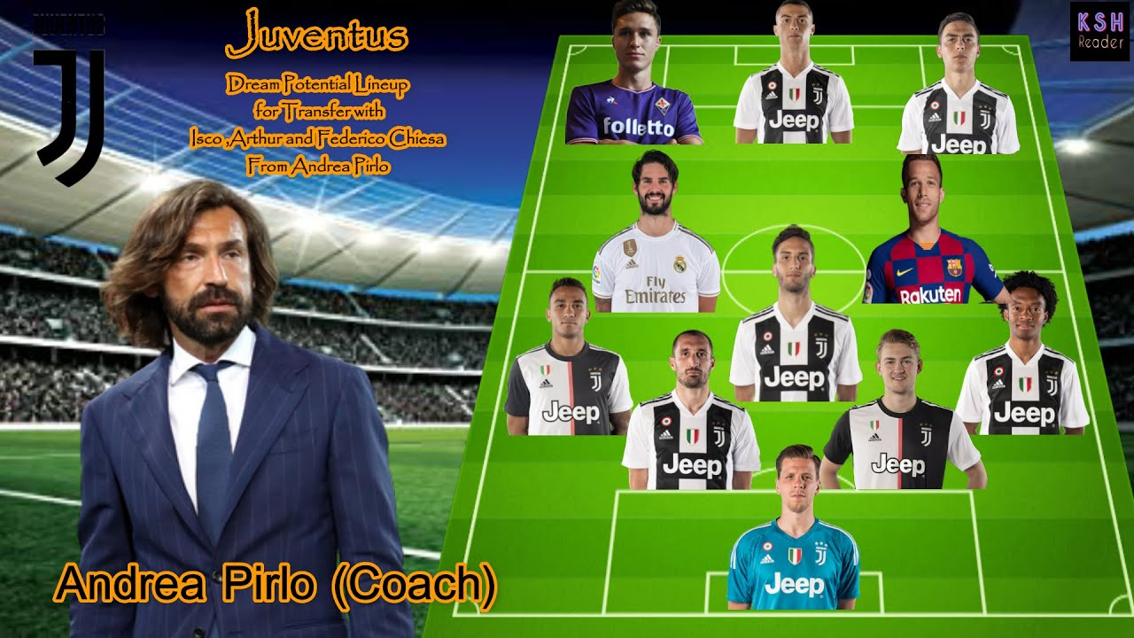 Juventus Potential Lineup For Transfer With Isco Arthur And Chiesa From Andrea Pirlo Youtube