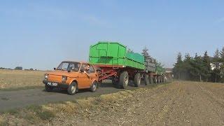 Maluch (Fiat 126p) ciągnie cztery duże przyczepy ! Hardcore ! 20ton kontra maluch!