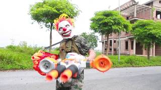 NERF WAR : SWAT Warriors Nerf Guns Fight Leader Organized Crime Mask 2