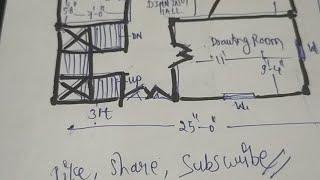 25*30 घर का नक्शा //House Plan 750 Sqft // Super duplex house..ll