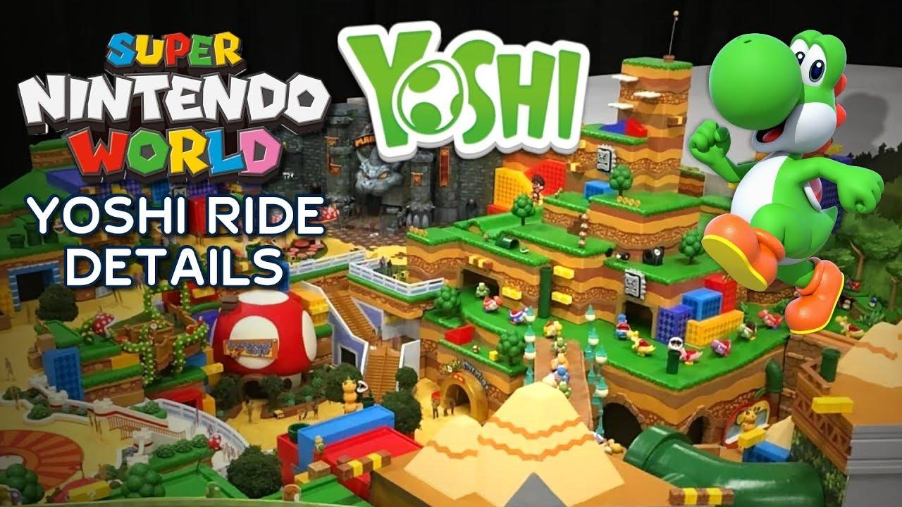 Yoshi Ride Details For Super Nintendo World At Universal Parks Yoshi S Adventure Youtube