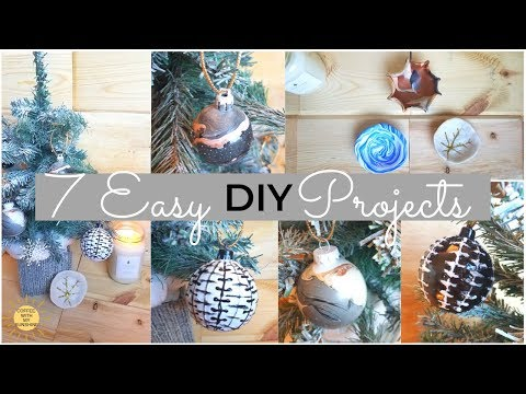 7 EASY DIY PROJECTS | CB2 INSPIRED | MARBLE | CLAY | GLAM | HOLIDAY | ORNAMENT | CHRISTMAS